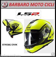 CASCO MOTO MODULARE LS2 STROBE CIVIK  FF325 DOPPIA VISIERA
