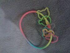 Animal Heads Colourful Thin Silicone Wristband Bangle Bracelet
