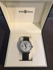 Bell & Ross Vintage 123 Steel Silver Dial Mens 38mm Watch Box/Papers BR123