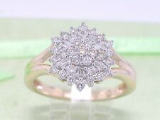 Diamant Brillant Ring 585 Gold 14Kt Gold 0,50ct Wesselton Si