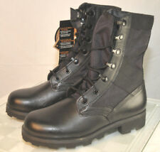 "Mens 4 R (W 6R) ALTAMA BLACK LEATHER Jungle COMBAT 9"" LEATHER BOOTS 6852"