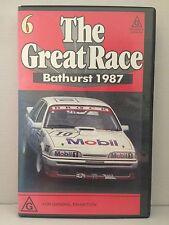THE GREAT RACE ~ AUSTRALIA'S MOUNT PANORAMA BATHURST 1987 ~ VHS VIDEO