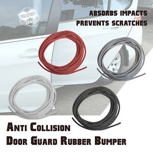15FT 3M Backing Rubber Flexible Door Edge Guard Scratch Paint Protection Molding