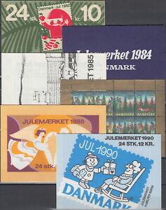 Denmark 12 Booklet Jul Christmas Stamps 1982/2005 MNH-?