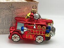 Komozja Verre ⭐️⭐️Décorations pour Arbre de Noël Pompier 14 cm ⭐️⭐️Produit Neuf