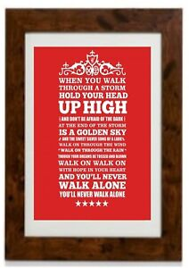 You'll Never Walk Alone - Liverpool F.C. Framed Print