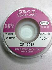 Tresse à dessouder largeur 2 mm longueur 1,5 m.
