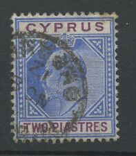 Cyprus SG65a 2pi Broken top left triangle Used (some foxing at top right hand co