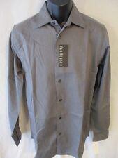 Van Heusen Cotton Blend S 14 ½ Neck 32/33 Slve Gray Striped Shirt SR $50 NEW