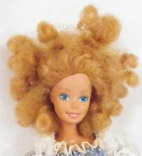 Magic Curl Barbie Doll 1981 Blonde Hair TNT Bend Knee Blue & White Lace Gown