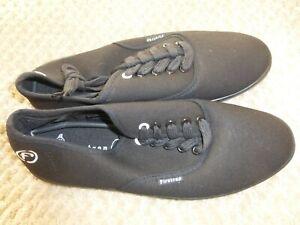 NEW Black Lace-UP Canvas Shoes / Pumps by FIRETRAP Size 7 (41)