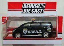 "Denver die cast S.W.A.T van black Menards diecast approx 3.5"" long 1/48 ?? vhtf"
