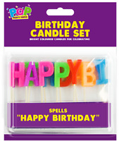 Happy Birthday Candle Party Cake Toppers Decoration Candles Multi Colour
