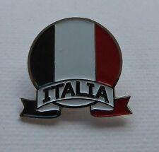 Metal Enamel Pin Badge Brooch Italia Italy Italian Flag Roundel Circle