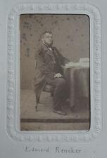 Photo Albuminé Cdv Edouard Rencker Provenance Album Militaire Mexique Vers 1860