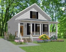Affordable House Home Blueprints Plans 3 bedrooms 1376 sf PDF