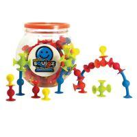 Fat Brain Toys Mini Squigz 75-Piece Set - Preschool Building Toy Game Blocks