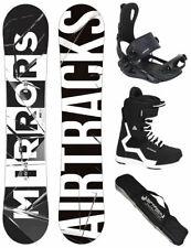 AIRTRACKS Set de Snowboard Planche Rétroviseurs+Fixation Master+Bottes + Sbbag /