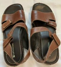 Womens 7 Leather Upper Balance Naturalizer Brown Sandal