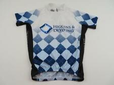 Atac Womens Black Blue Diamond Cycling Bike Jersey Shirt Size Large Higgins Zip