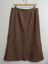 """Harve Benard 32"""" Waist Women's 12 Tall Long Maxi Wool Houndstooth Skirt"""