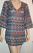 Bar III Size XS Multi Color Lost Tribe Swimsuit Cover Up NEW