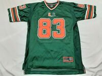 Colosseum Athletics UM Miami Hurricanes #83 Sewn Jersey Mens Size Small Youth XL