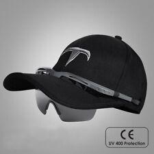 Baseball cap with integrated sunglasses - Black