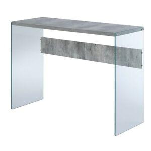 Convenience Concepts SoHo Console Table, Faux Birch/Glass - 131562C1