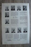 Deutsche Wissenschaft Zoologie Botanik 1895-1910 Engler Goebel Haeckel 29x41cm