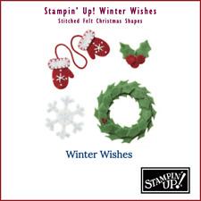 Stampin' Up! Stitched Felt Winter Wishes Mitten Wreath Snowflake RETIRED