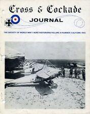 Cross & Cockade Journal ~ Autumn 1965 - World War 1 ~ Aviation History