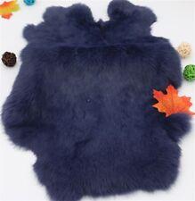 2x Dark Gray Genuine Natural Rabbit Skin Pelt Fur One Hides Craft Grade Tanned