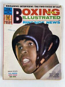 1968 Cassius Clay (Muhammad Ali), Vintage Boxing Illustrated Magazine. No Label