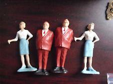 """Lot of 4 Vintage 1960s Gilbert Plastic James Bond Figurines 3 1/4"""" Tall"""