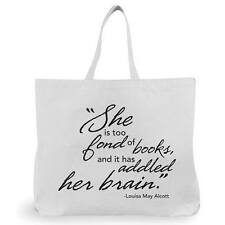 "B&B Shopping Eco Bag ""She Is Too Fond Of Books, And It Has Addled Her Brain"""