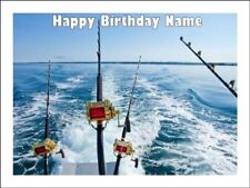 Fishing Rods  A4 Edible Icing Cake Topper Birthday Party Decoration