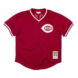 Mitchell & Ness Scarlet MLB Cincinnati Reds 1984 Pete Rose Authentic BP Jersey