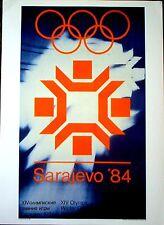 "1984 Sarajevo - WINTER OLYMPIC POSTER - IOC Licensed reprint  13"" x 18"""
