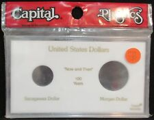 "CAPITAL PLASTICS: ""MA345M"" U.S. DOLLARS 100 YEARS COIN DISPLAY W/FREE SHP."