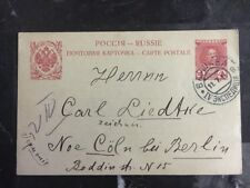 1914 Warsaw Poland Russia Postal Stationary Postcard cover To Berlin Germany