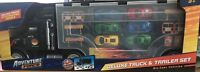 Adventure Force Deluxe Truck & Trailer Set - WITH DIE CAST VEHICLES BNIB