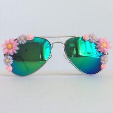 Sweet Nothings - PinksAndMinks Reflective Embellished Sunglasses Pastel Flower