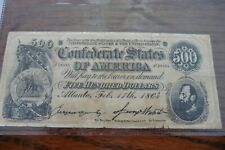 1864 Confederate States $500 Dollar Note Confederate Currency Reproduction