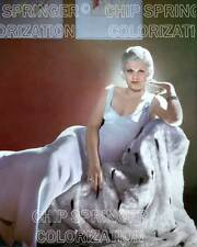 JEAN HARLOW IN FRONT OF 2 PAINTINGS BEAUTIFUL COLOR PHOTO BY CHIP SPRINGER