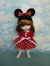 1/8 Bjd doll Minnie Mouse outfit dress hat Pukifee ,Lati Yellow .
