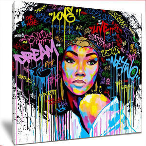 BLM Afro Art - 24 X 24 INCH Large Framed High Definition Canvas Print