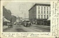 Fulton NY First St. Trolley c1905 Postcard