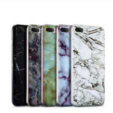 Handy Schutz Hülle Tasche Marmor Case TPU Bumper Silikon Back Cover Transparent