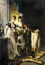 Art Oil karl gampenrieder - the introduction nice young girls with man in room